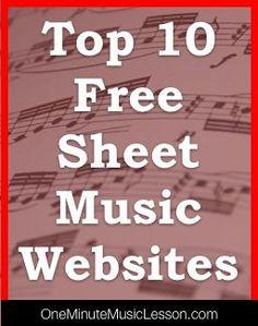 Top 10 Free Sheet Music Websites