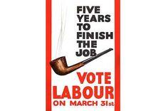 Labour, UK, 1966.  Feat. Harold Wilson's pipe.