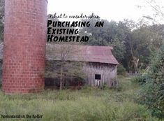 Things to consider when purchasing an existing homestead