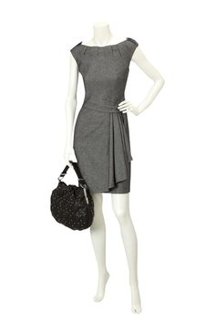 Karen Millen twisted tweed dress.
