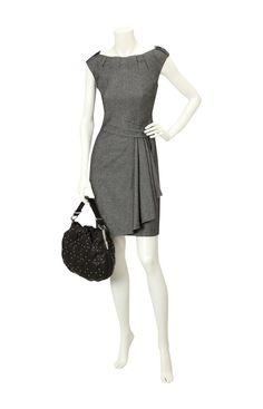 Karen Millen twisted tweed dress.