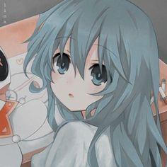aesthetic icon girl of anime - - Emo Anime Girl, Blue Anime, Kawaii Anime Girl, Cute Cartoon Pictures, Cute Anime Pics, Anime Love, Arte Indie, Anime Profile, Anime Angel