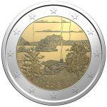 Todas las Monedas de 2 Euros Conmemorativas de Finlandia   Numismatica Visual Tove Jansson, Coins, Diamonds, Culture, European Flags, Historia, Coin Collecting, Finland, Rooms