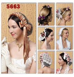 Civil War Ladies Day Caps Victorian Head Wear Free Shipping. $6.00, via Etsy.
