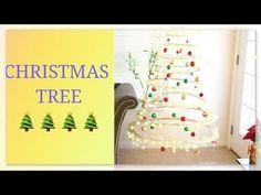 58 ideas for floating christmas tree diy Diy Christmas Tree Topper, Diy Tree Topper, Cardboard Christmas Tree, Hanging Christmas Tree, Ribbon On Christmas Tree, Christmas Tree Decorations, White Christmas, Christmas Diy, Simple Tree Tattoo