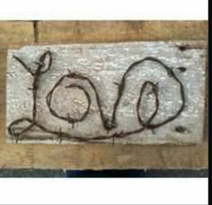 Barb wire love sign                                                                                                                                                                                 More