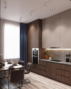 Home Decor Ideas gathered a few modern kitchen ideas, from the world's top interior designers, so you too can feel inspired to renovate your luxury kitchen. Kitchen Room Design, Kitchen Cabinet Design, Modern Kitchen Design, Home Decor Kitchen, Kitchen Living, Interior Design Kitchen, Kitchen Furniture, Interior Modern, Brown Kitchen Interior