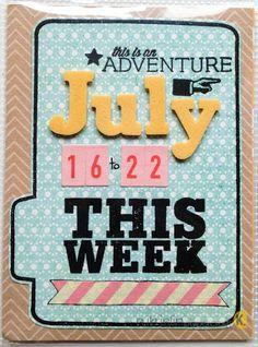 Project Life week # card idea