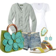 Aqua summer outfit