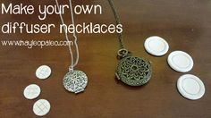 DIY tutorial for making your own oil diffuser necklace