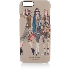Henri Bendel Graphic Phone Case For Iphone 6/6s ($27) ❤ liked on Polyvore featuring accessories, tech accessories, tan and henri bendel
