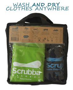 Wouldn't this be lovely?  Scrubba wash and dry kit (USD)