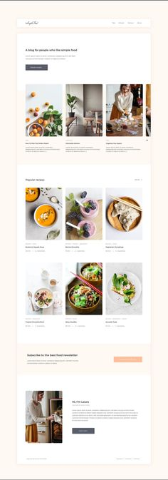 Would you like to open a blog with your best cooking recipes? This free blog template created in Adobe XD by Ophelia Fournier-Laflamme is just for you. Blog Templates Free, Adobe Xd, Free Blog, Easy Meals, Just For You, Cooking Recipes, Simple, Food, Meal