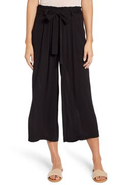 Petite Women's Gibson X Hi Sugarplum! Sedona Wide Leg Ankle Pants, Size XX-Small P - Black (Regular & Petite) (Nordstrom Exclusive) Wide Pants Outfit, Summer Vacation Outfits, Nordstrom Beauty, Prom Looks, Ankle Pants, Women's Pants, Men Looks, American Women, Looking For Women