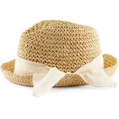H Straw hat ($7.58) ❤ liked on Polyvore