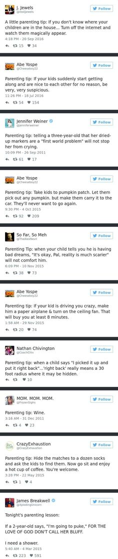Parenting tips from moms and dads