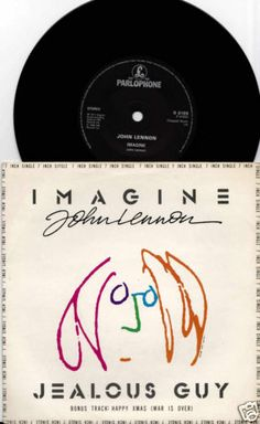 "JOHN LENNON Imagine 1988 UK RARE 3TRK 7"" 45 VINYL Single BEATLES R6199 Free 