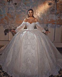 30 Chic Long Sleeve Wedding Dresses ❤ long sleeve wedding dresses off the shoulder ball gown sweetheart neckline saidmhamad #weddingforward #wedding #bride #weddingoutfit #bridaloutfit #weddinggown