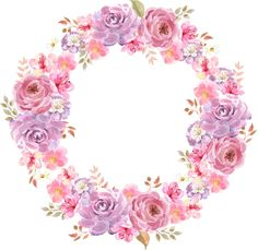 Roses_стили и странички для скрапа Paper Flowers Craft, Flower Crafts, Flower Frame, Flower Art, Floral Bouquets, Floral Wreath, Cupcake Toppers Free, Wreath Drawing, Art Clipart