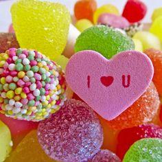 I Heart U | @FairMail - Fair Trade Cards | Valentine's Day Card | Candy Hearts
