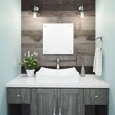 #BlackBathroomDecor Contemporary Bathroom Sinks, Modern Bathroom Decor, Bathroom Layout, Bathroom Interior Design, Small Bathroom, Bathrooms, Unique Bathroom Sinks, Bathroom Ideas, Navy Bathroom