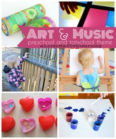 Art and Music learning theme. Learning about the Fine arts, famous artists, sounds, and more in tot school and preschool | ALLterNATIVElearning
