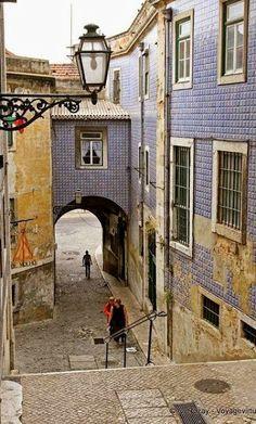 Lisboa antigua. Barrio de  Alfama