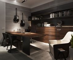 Office Design - 9J Apartment by S&T Architects