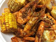 Shrimp Boil with Boiling Crab's Whole Shabang Sauce - - I love seafood and very spicy flavors. This recipe is a copykat of restaurant The Boiling Crab's Whole Shabang Sauce. I've made this for various potlucks this past holiday season and it…. Seafood Boil Recipes, Crab Recipes, Sauce Recipes, Cooking Recipes, Cajun Seafood Boil, Seafood Broil, Seafood Bag Recipe, Camarones Cajun, I Love Food