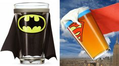 Caped Pint Glasses Will Only Add To Your Drunken Delusions of Being a Superhero