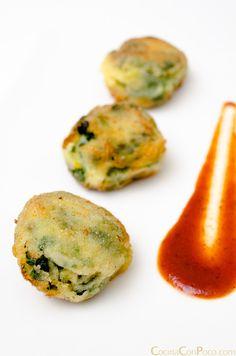 Croquetas de espinacas, patata y maíz - Sin gluten