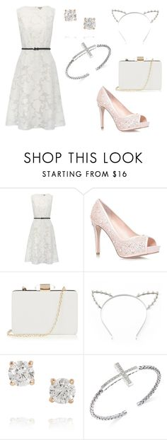 """""""Little White Dress Contest Entry"""" by dovepool ❤ liked on Polyvore featuring M&Co, Oasis, Candie's, Anita Ko and LWD"""