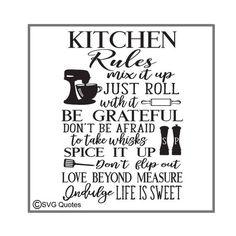 Kitchen Rules Printable Kitchen printables, Kitchen
