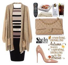 """Shein"" by yesanastasia1919 ❤ liked on Polyvore featuring moda, Christian Louboutin, Chanel, Sheinside y shein"