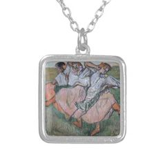 Three Russian Dancers by Edgar Degas Personalized Necklace