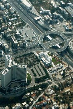 Highway interchange in the northern suburb (aerial), Athens City Architecture, Futuristic Architecture, Amazing Architecture, City Skylines Game, Attica Greece, City Layout, Modern Exterior House Designs, Futuristic City, Environment Design