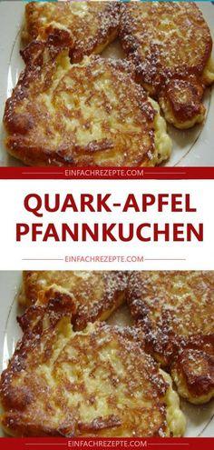 Quark-Apfel-Pfannkuchen 😍 😍 😍 Quark and apple pancakes 😍 😍 😍 Best Pancake Recipe Fluffy, Homemade Buttermilk Pancakes, Easy Cake Recipes, Healthy Dessert Recipes, Desserts, Clean Eating Pancakes, Dairy Free Pancakes, Easy Meals, Food