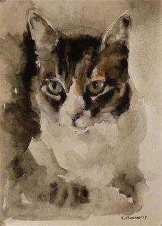 "Daily Paintworks - ""Commission"" - Original Fine Art for Sale - © Katya Minkina"