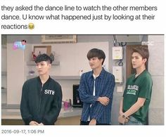 """Where is Minseok tho <<< He was like """"Time to get my shine"""" & was tearing that dance up!"""