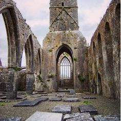 The ruins of Claregalway Friary, Ireland