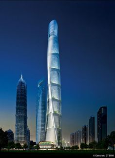 Shanghai Tower, the second tallest skyscraper in the world, has completed and is due to open for business. Dubai, Shanghai Tower, Vertical City, Future Buildings, Famous Architects, High Rise Building, Amazing Buildings, Architectural Digest, Architectural Drawings