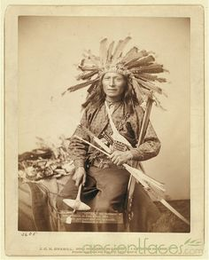 "This is believed to be an image of ""Little"", a Sioux Lakota Native American who was supposedly involved in the Wounded Knee Massacre. The Wounded Knee Massacre occurred on December 29th, 1890 near Wounded Knee Creek on the Lakota Pine Ridge Indian Reservation in South Dakota. Accounts vary, but essentially the U.S. 7th Cavalry, led by Major Samuel M. Whitside, slaughtered Spotted Elk's band of Lakota Sioux Native Americans (estimated 150 men, women and children)."