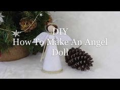 DIY How To Make An Angel Doll Tree Topper | Búp Bê Thiên Thần 4 | Huong Harmon - YouTube Christmas Angels, White Christmas, Felt Angel, Fairy Dolls, Tree Toppers, Diy Doll, Handmade Christmas, Gnomes, Elves