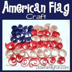 American Flag Craft. Fun 4th of July craft for kids! Fourth of July craft.