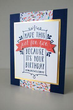 "Stampin' Up, ""Balloon Bash"", Geburtstagskarte"