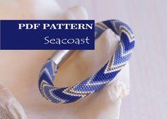 PDF Pattern for beaded crochet bracelet  Seed bead pattern
