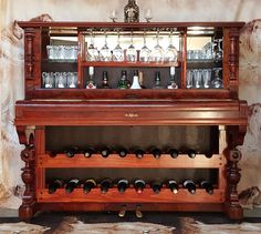 How to Repurpose a Piano Into a Bar/Drinks Cabinet - NV