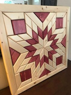 Finding Woodworking Patterns for All Your DIY Projects – The Woodworking Shop Reclaimed Wood Wall Art, Wooden Wall Art, Diy Wall Art, Wood Art, Wall Wood, Wood Wall Art Decor, Barn Quilt Designs, Barn Quilt Patterns, Wood Patterns