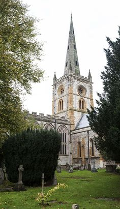 The Church of the Holy Trinity ~ where Shakespeare is buried in Stratford-upon-Avon, England. (April 23,1616)
