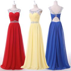 Open back prom dresses, chiffon prom dress, long prom dresses, cheap prom dresses, 2016 prom dresses, custom prom dresses, dresses for prom, CM675